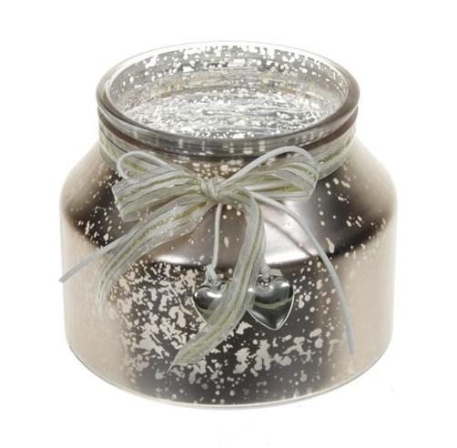 Candleholder van glas Darla metallic gold