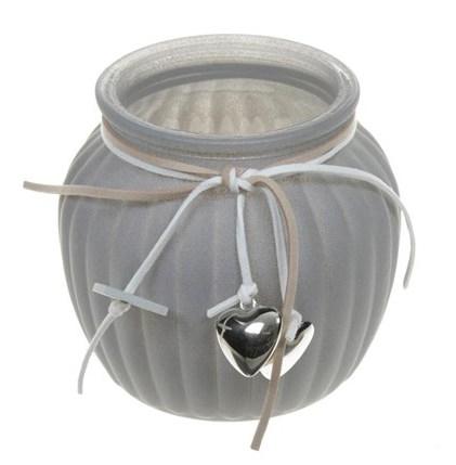 Candleholder van glas Selia Grey