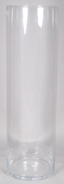 Cilinder vaas glas Ø 17,5 cm met een hoogte van 60 cm