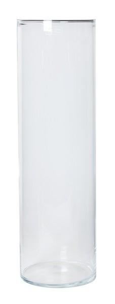 Cilinder vaas glas Ø 19,5 cm met een hoogte van 70 cm