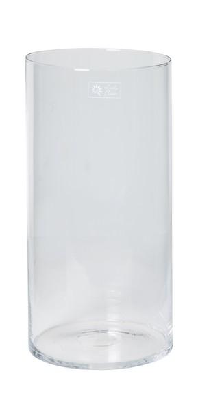 Cilinder vaas glas Ø 20 cm met een hoogte van 50 cm