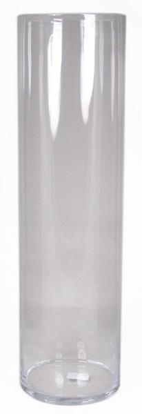 Cilinder vaas glas Ø 21 cm met een hoogte van 70 cm