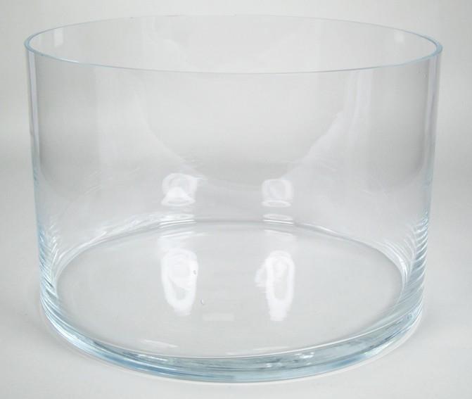 Cilinder vaas glas Ø 40 cm met een hoogte van 24 cm