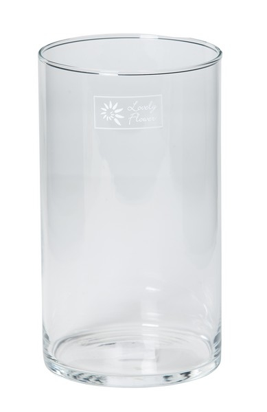 Cilinder vaas glas Ø 8,5 cm smal in 3 hoogtes