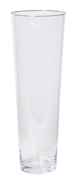 Cilinder vaas glas konisch Ø 17 cm en hoogte 50 cm