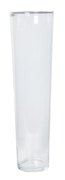 Cilinder vaas glas konisch hoog Ø 19,5 cm en hoogte 70 cm