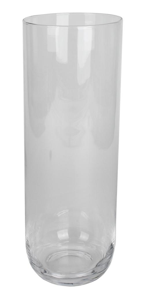 Cilinder vaas glas met ronde bodem 40 cm