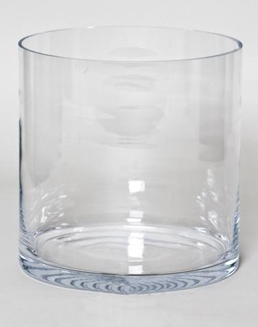 Cilinder vaas heavy glas Ø 25 cm met een hoogte van 25 cm