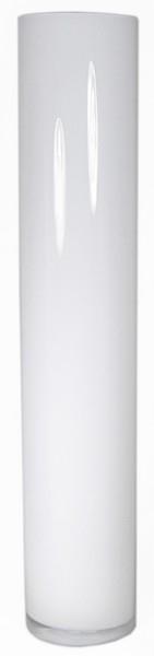 Cilinder vaas wit glas Ø 15 cm 80 cm hoog