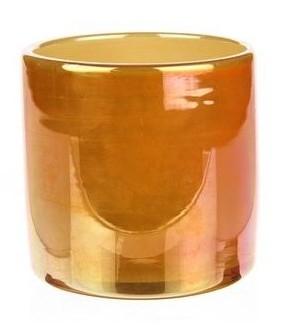 Cilinder van glas Grimsby oranje 12 cm heavy glas