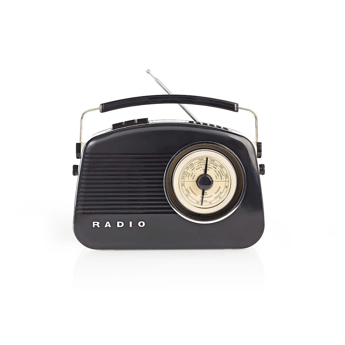 DAB+-radio 5,4 W   FM Draaggreep Zwart