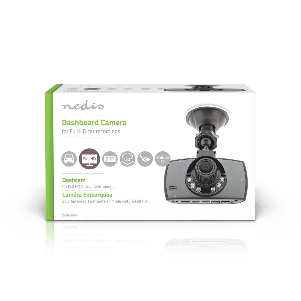 """Dashcam Full-HD 1080p 2.7"""" 120° zichthoek"""