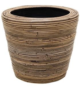 Drypot Rattan Stripe 38 cm
