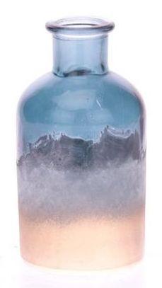 Fles van glas poeder blauw goud
