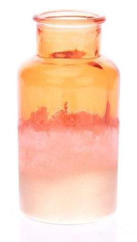 Fles van glas poeder oranje goud