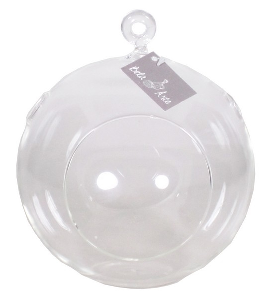 Glas bal met opening aan de voorkant en boven