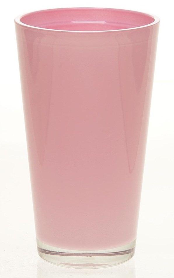 Glaspot gekleurd hoog roze heavy glas