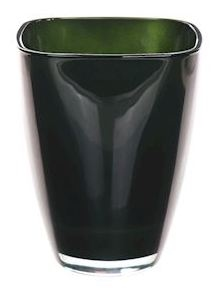 Glaspot gekleurd mosgroen heavy glas