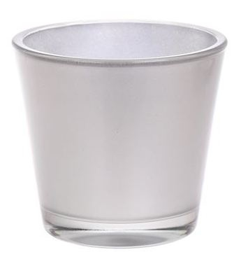 Glaspot Max metallic zilver heavy glas