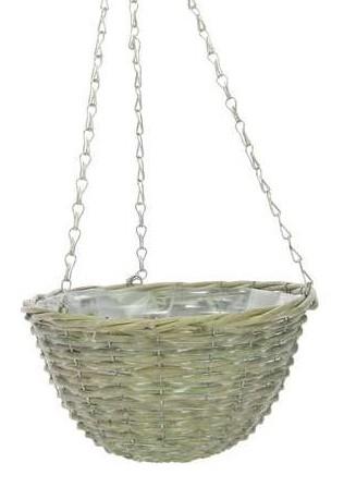 Hanging basket wilg grijs