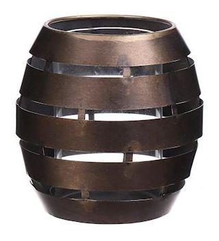 Kaarsenhouder Erdeven brons L