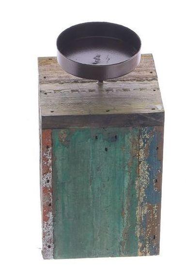 Kaarsenhouder langwerpig van afvalhout S