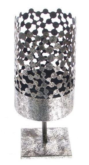 Kandelaar metaal antiek zilver