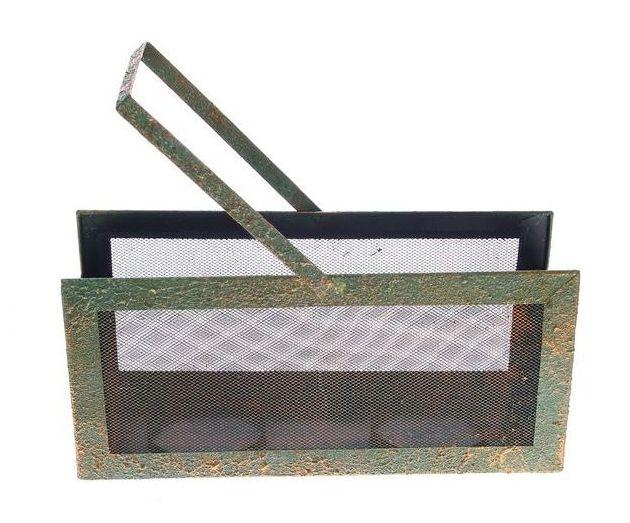 Kandelaar metaal groen goud