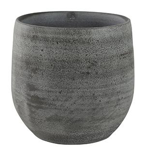 Keramieken bloempot Esra mystic grey in meerdere afmetingen