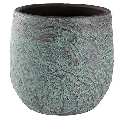 Keramieken bloempot Evi antique brons XXL