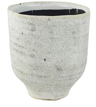 Keramieken bloempot Fenna off white cement