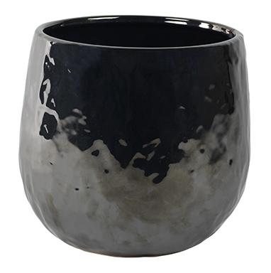 Keramieken bloempot Lieke pearl black 25 cm