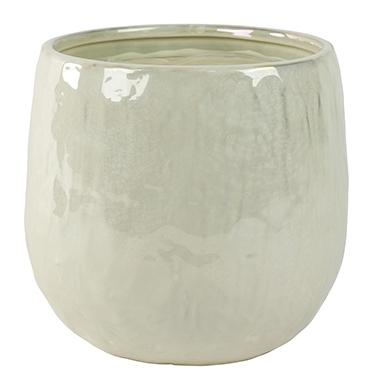 Keramieken bloempot Lieke pearl white 25 cm