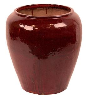 Keramieken bloempot Mystic Red Black in 2 afmetingen