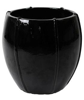 Keramieken bloempot Zwart glans Couple Moda in 2 afmetingen
