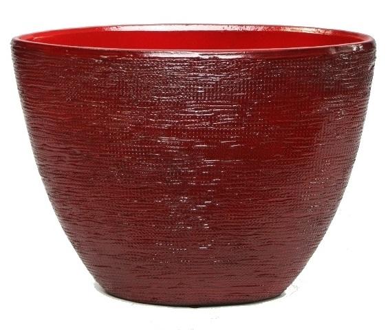 Keramieken plantenbak Cabo rood 30 cm