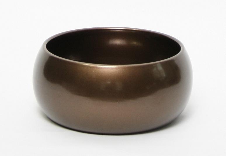 Keramieken plantenschaal Bowl round bronze