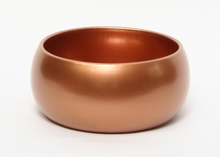 Keramieken plantenschaal Bowl round koper