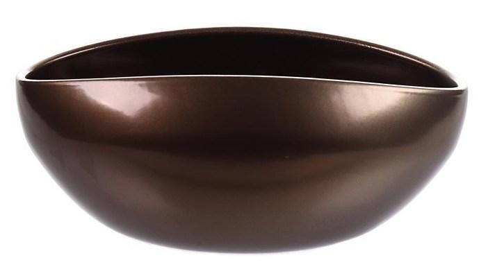 Keramieken plantenschaal Glendo bronze 22,8 cm