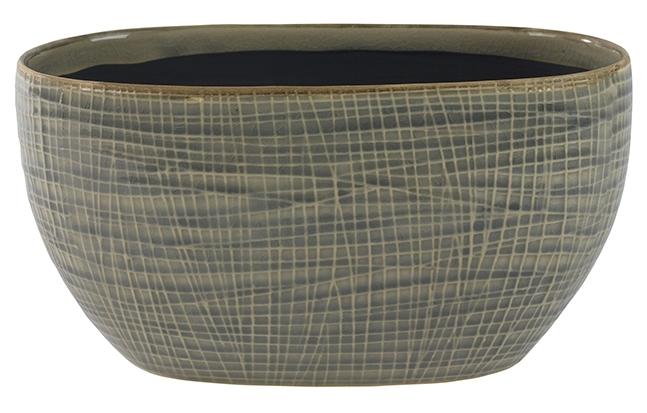 Keramieken plantenschaal Lotte light grey