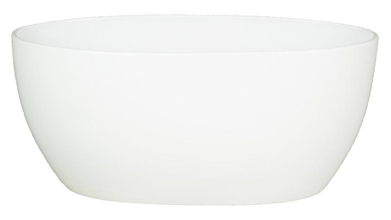 Keramieken plantenschaal ovaal Femke wit