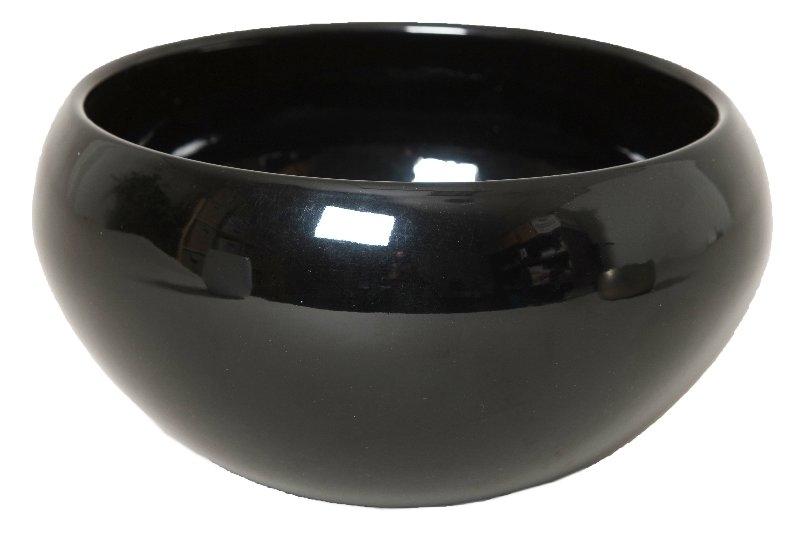 Keramieken plantenschaal Rian zwart