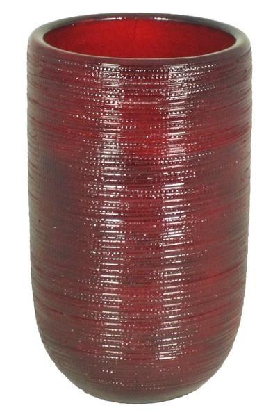 Keramieken vaas Cabo rood 40 cm