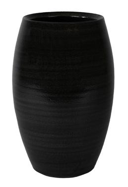 Keramieken vaas Cresta ebony 35 cm
