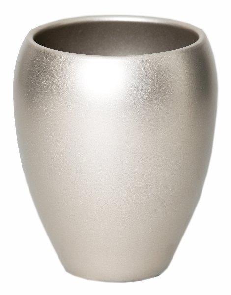 Keramieken vaas Rian champagne 25 cm