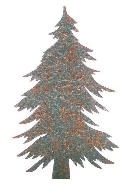 Kerboom metaal groen goud