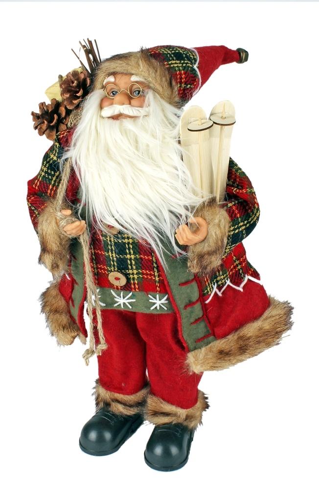 Kerstman met een hoogte van 45 cm in drie uitvoeringen