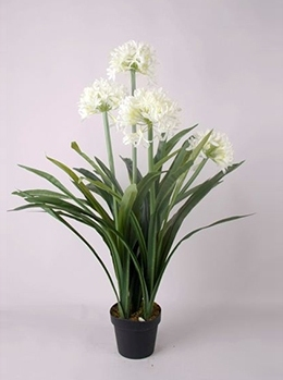 Kunstplant Agapanthus wit