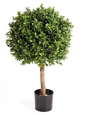 Kunstplant Buxus kogel 50 cm op stam