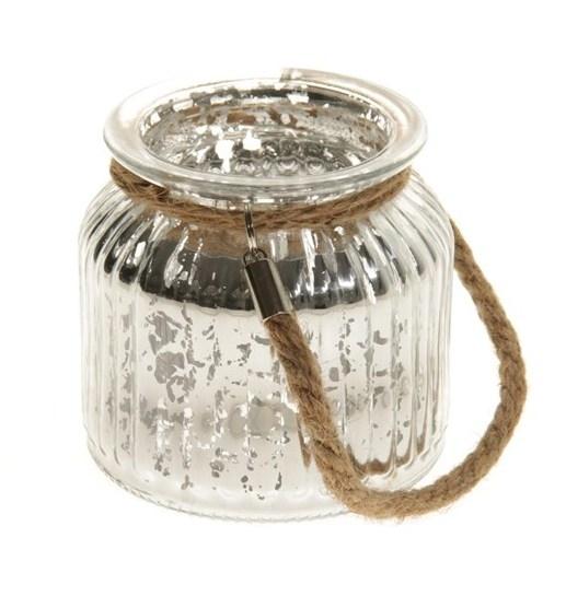 Lantaarn van glas Jinga in goud, brons en zilver
